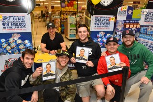 Victor Dematteo, Brad Marchand, Freddy Burns, David Harris, Stephen Diblasi, and Lawrence Falter