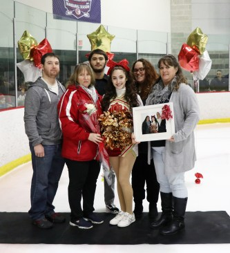 Angelina Falzone with her mom, Michelle; sisters, Caitlyn and Mitchelle; brothers, Carmen and Mark; and grandmother, Ann Marie