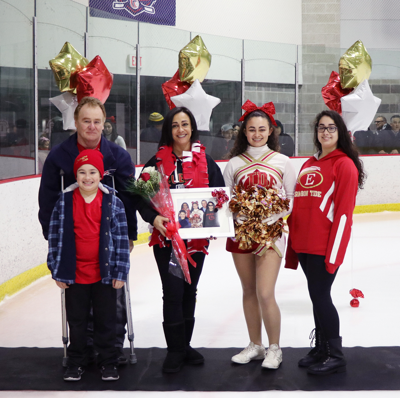 Myah Blauvelt with her parents, Larissa and Paul; sister, Isabella; and brother, Raymond