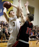 Senior captain Zach Shone put up 22 points against Swampscott.