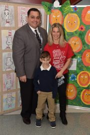 School Committee member Gerry Visconti with Joseph and Danielle Visconti