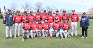 Patriot Baseball; front row from left; Lucas Rincon, Shawn Goslin, Dayven Diaz, Joey Gendreau, James O'Donnell, Brandon Sarmanian. Back row: Alejandro Arango, Cal Capozzi, Matt Cravotta, EJ Leone, John Leone, Jon Murphy, Wil Martinez, Alex Baez, Kasey Cummings, Head Coach Michael Manning and Asst. Coach Steve Capozzi.