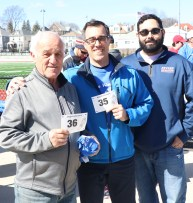 Vito and Paul D'Ambrosio and Revere Parks and Rec event planner Charlie Giuffrida.