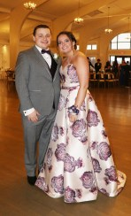 James O'Donnell and Jenna Wells at the RHS Jr. Prom last Thursday evening.