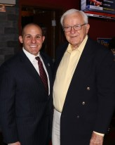 Former Malden Mayor Edwin Lucey was on hand to support Steve Ultrino for re-election