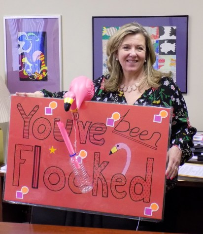 Superintendent gets flocked during DI fundraiser