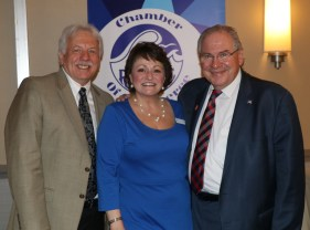 Speaker of the House of Representatives Bob DeLeo with Bob Upton and Revere's new Executive Director Wendy Millar-Page.