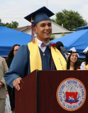 Vice President of RHS Class of 2018 Henry Baptista.