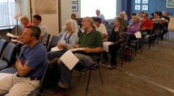 Residents packed the room during the June 12 meeting with Bayside Engineering to discuss the proposed Summer Street Improvement Project.