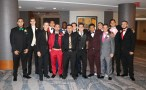The guys are dressed in their best prom attire