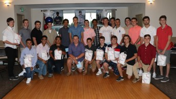 The 2018 RHS Patriots, JV and Varsity Baseball Team at the Point of Pines Yacht Club.