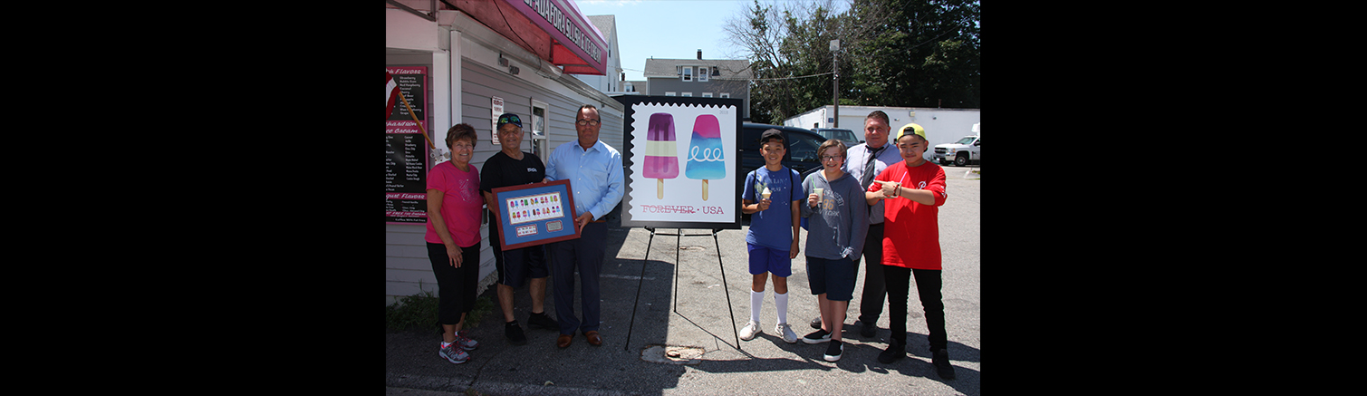 Spadafora Slush and Ice Cream celebrates new Frozen Treats postage stamps