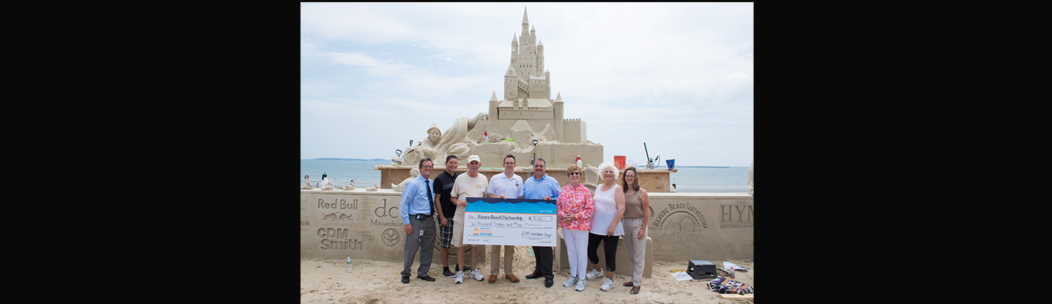 Sand Castle Festival Sponsors present check to Revere Beach Partnership