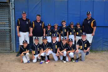 Pictured, from left to right, are (top row) Coaches Jared Burke, Peter MacKinnon, Evan Diranian, Andrew Carbone, Oliver Harth, Grant Neal, Coleman Walsh, Coach Steve Walsh, (bottom row) Cole MacKinnon, Shane MacEachern, Lorenzo Nieves, Jared Burke, Brady Cole, Zach Chiarella, and James Pasquale. Coach Craig MacEachern not pictured.