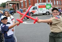 A little sword play from Cub Scout Chris Wells and Boy Scout Matteo Reitano from Pack and Troop 15.