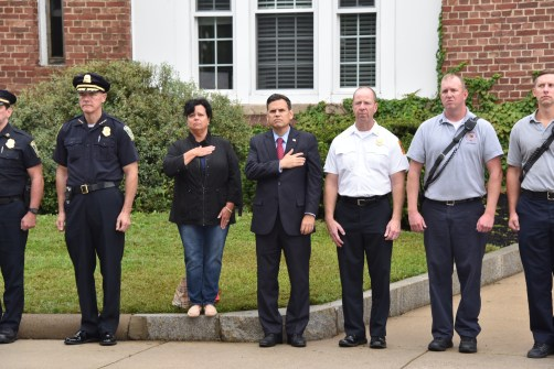 Kevin Molis Police Chief, Debbie DeMaria Councilor At Large, Gary Christenson Mayor, Kevin Fin Fire Chief