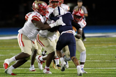 The Tide defense was awesome again, as 260-pound senior linebacker Wilson Frederic, junior defensive back Chonlee Cine, and senior linebacker Gilbert Kabamba put a big hit on a Lawrence back.