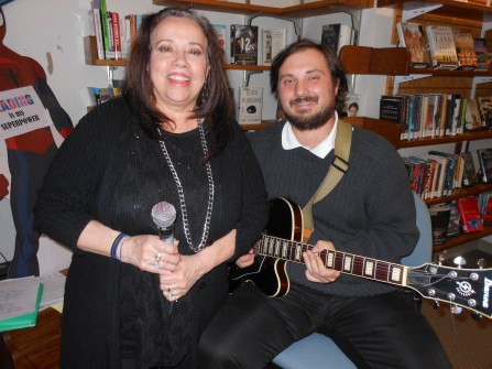 MAKING MUSIC AT THE LIBRARY: Judy Teo and Cory Magno, of the group Hot Sauce, provided the night's entertainment.