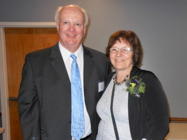 Edward Jeffrey, chairman of the board of the Foundation for the SPL, with his wife, Linda.