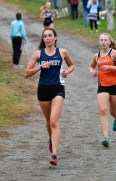 Sarah Enes of Peabody during their cross country meet with Beverly at Brooksby Farm in Peabody on Wednesday, Oct. 3, 2018.