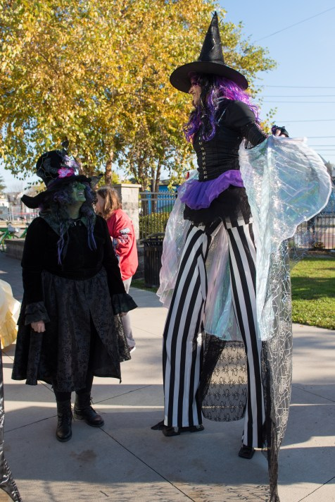 Witches of all shapes and sizes congregated at Glendale Park to lead the parade of costumed kids.
