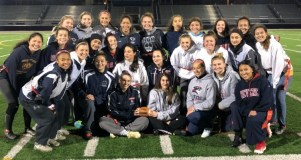 READY TO ROLL: RHS Lady Patriots formidable and very talented Powderpuff football team will play Winthrop High in the 7th annual Powderpuff game at Winthrop's Miller Field on Sunday, November 18 at 10 a.m. The game is a fundraising event for each senior class. Revere High won the 2017 game; the 2016 ended in a tie.