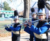 The MHS Marching Band was in the parade Sunday morning.