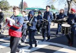 The Malden Middle School Band was part of the program.