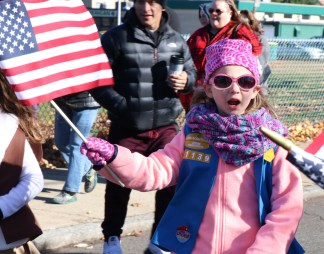 Red White and Blue and Pink, Malden Daisy Eve Cammaratta enjoyed marching in the parade.
