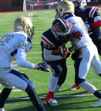 Crossing the line-again, Captain Darius McNeil in for another Patriot score.