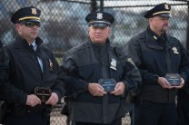 Officer Joseph Pepicelli was honored at the ceremony on Tuesday afternoon in Glendale Park.