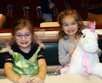 Tinker Bell and a Unicorn, Olivia Bauer and Rose Curti.