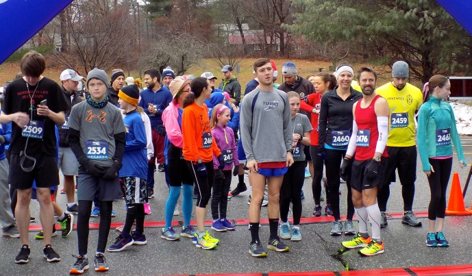 More than 50 runners participated in the 10th annual Turkey Trot, which was hosted by the Lynnfield Rotary Club, on Nov. 25 at Lynnfield High School. (Advocate Photos by Christopher Roberson)