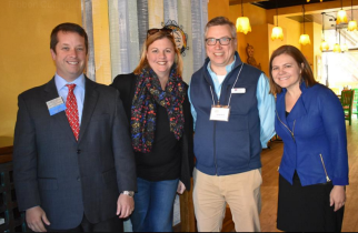 Shown, from left to right, are Christopher Feazel, chairman of the Board of Directors of the Peabody Area Chamber of Commerce, Attorney Beth Brennan O'Donnell, George Herrell, manager of Money Mailer of Massachusetts, and Cheryl Russo, owner of Organizing By Cheryl.