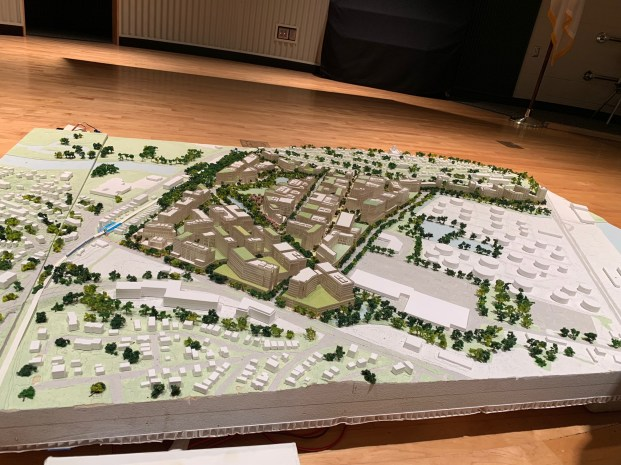 A model of what Suffolk Downs will look like.