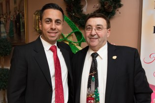 Domenic Licata and Clemente Palmariello enjoyed celebrating the holiday season for a good cause with MassBadge.
