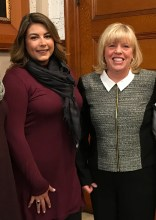 DYNAMIC DUO: Newly-sworn Council President Jessica Giannino and Vice President Joanne McKenna are all smiles after being appointed the first female City Council leaders for 2018.