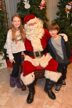 Abby and Alex Pothier with Santa Claus