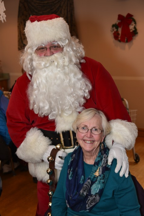 Rosemary Evitts with Santa Claus