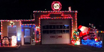 Peabody's Engine 5 Fire Station on Lynn Street decked out for the Holiday Season. (Advocate Photos by Christopher Roberson)