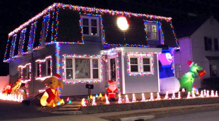 A home on Lynn Street, which also played holiday music.