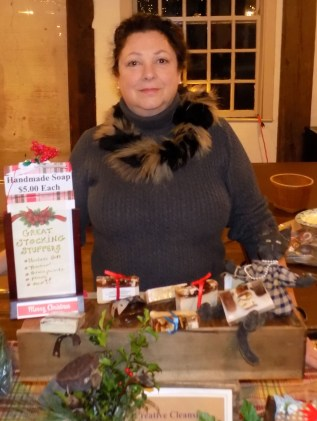 Joan Colucci selling handmade soap at the Meeting House.