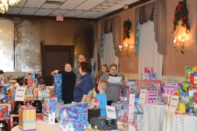 Some of the many gifts donated to the Malden Kiwanis holiday basket drive.