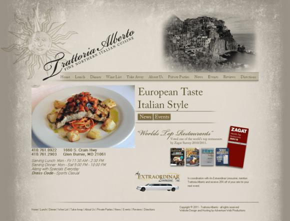 Trattoria Alberto - Fine Dining Baltimore - Italian Restaurants Glen Burnie Maryland_1306348990345