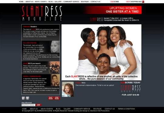 SLAN-TRESS (noun) ['slan-tris): a woman with a viewpoint & vision, and the heart to follow it.