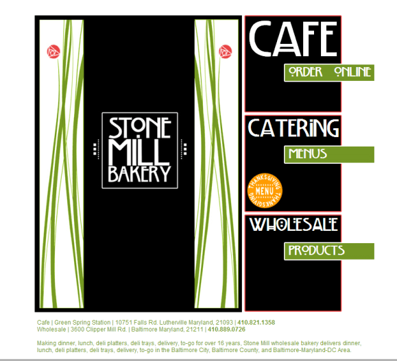 Adventure Web Productions has recently launched Stone Mill Bakery's new website!