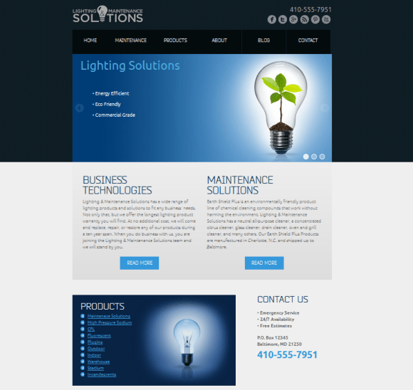 lighting and maintenance solutions