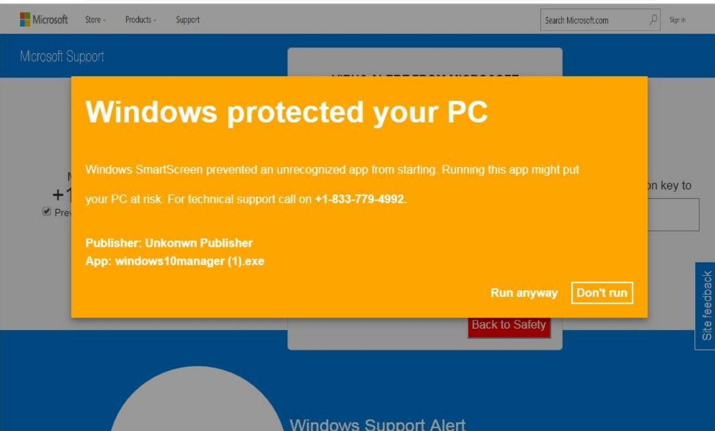 What is Windows protected your PC?