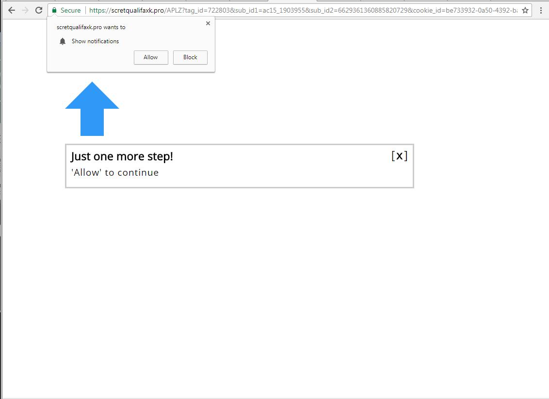 What is Scretqualifaxk.pro?