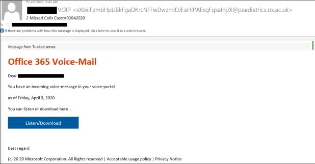 Office 365 phishing attacks